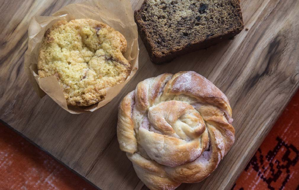 Hotel Rock Lititz offering amazing breakfasts such as danish's, muffins and bread