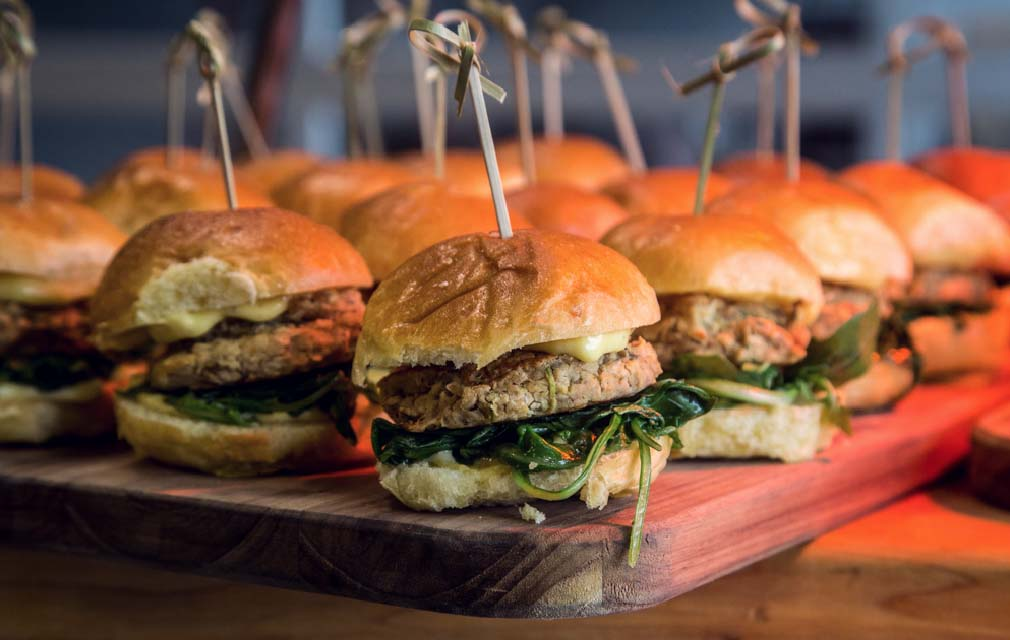 Per Diem offering wonderful food at Hotel Rock Lititz such as these sliders