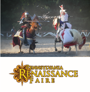 Two men jousting at the Pennsylvania Renaissance Faire
